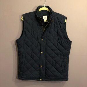 Men's GAP navy primaloft vest